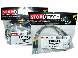 Stoptech Stainless Steel Braided Brake Lines Front Rear Set 61003 61501