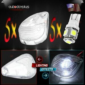 5 Led Clear Cab Roof Running Lights Fit For 99 11 Ford F250 F350 Pickup
