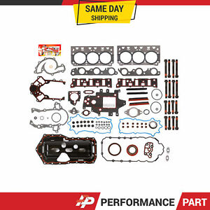 Full Gasket Set Head Bolts For 96 03 Buick Pontiac Oldsmobile Supercharged 3 8
