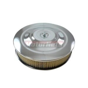 14 x3 Round Performance Style Chrome Air Cleaner Street Hot Rod Breather Filter