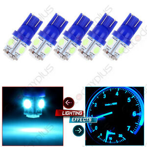5x T10 5 5050 Smd Ice Blue Led Bulbs For Clearance Cab Marker Light Lamps Combo