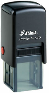 Personalised Shiny S 510 Self Ink Rubber Stamp 12 X 12 Mm Loyalty Stamp