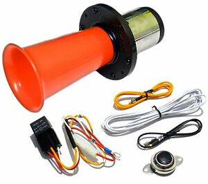 Red Ooga Air Horn Classic 12 Volt W Button Relay Install Kit Car Van Auto Boat