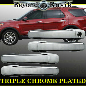 2011 2018 Ford Explorer Chrome Door Handle Covers Overlays Without Smart Key