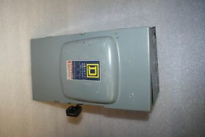 Square D General Duty Safety Switch D223n 100a 3w 2p Fused