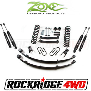 Zone 4 5 Suspension Lift Kit Rear Springs Jeep Cherokee Xj 91 01 Chrysler 8 25