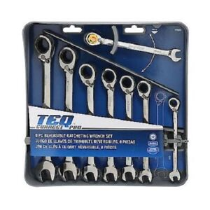 Gearwrench 8 piece Reversible Ratcheting Combination Wrench Set Metric