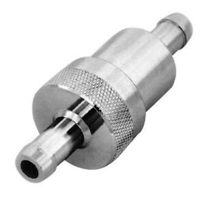 3 8 Chrome Fuel Filter With Bronze Element R9407 Street Hot Rod