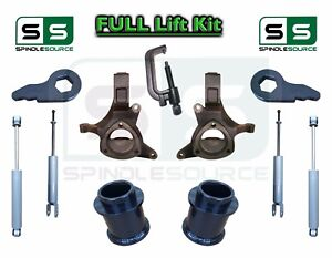 2000 2006 Chevy Gmc Suv Tahoe Yukon 5 7 3 Lift Kit Spindle Shocks Tool