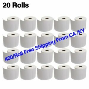 20 Rolls 4x6 Direct Thermal Labels 450 Per Roll For Zebra Eltron 2844 Zp 450