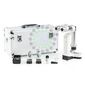 New Portable Slit Lamp Set 3700 With Case Ce Approval Battery