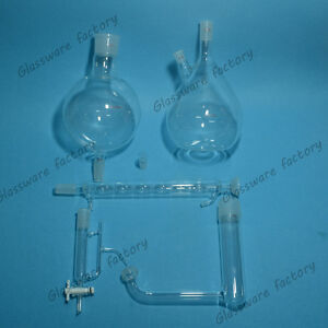 Glass Essential Oil Steam Distillation Apparatus allihn Condenser