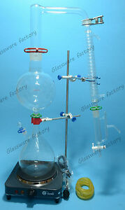 Essential Oil Steam Distillation Kit lab Apparatus graham Condenser 110v Or 220v