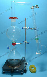 Essential Oil Steam Distillation Kit lab Apparatus allihn Condenser 110v Or 220v