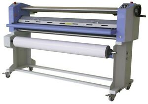 Gfp 563th 3 63 Top Heat Laminator W Swing Shafts Stand
