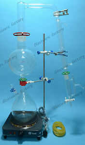 Essential Oil Steam Distillation Kit lab Apparatus liebig Condenser 110v Or 220v