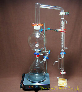 Essential Oil Steam Distillation Apparatus 120v us plug graham Condenser