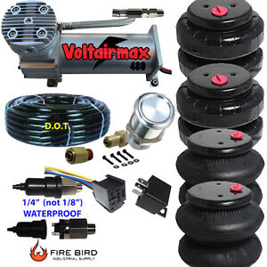480c Air Compressor Ride Kit 200psi Rate All Pictured 2500 2600 Airspring Bags