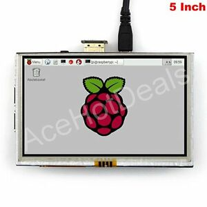 5 Tft Lcd Hdmi Resistive Touch Screen Lcd 800x480 For Raspberry Pi 2 3