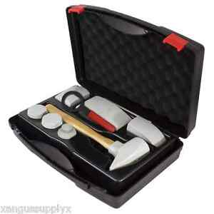 Aluminum Auto Body Ford F 150 Panel Repair Tool Kit Dolly Hammer Shaping Heads
