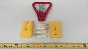 6328g5 Anderson Original Battery Connector 175 Yellow Mating Pair Red Handle