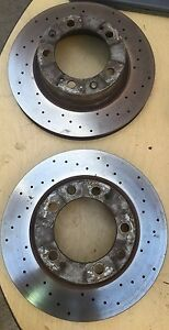 Porsche 944 Turbo Front Cross Drilled Rotors