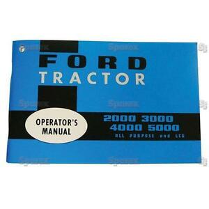 Ford 2000 3000 4000 5000 Tractor Operator s Owner s Instruction Manual 65 68 New