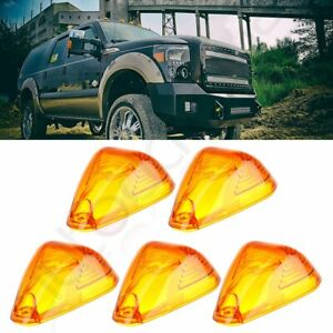 5 Roof Running Light Cab Marker Amber Cover Top Lamp Lens For Ford F 250 350 450