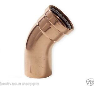 New Viega 20673 Propress 3 Xl c Copper Elbow 45 Ftg X C St Elbow 45 Degrees