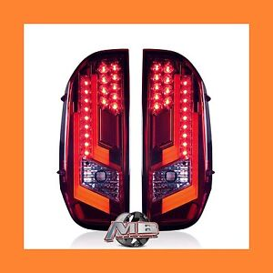 Toyota Tundra Red Chrome Led Tail Lights 2014 2018 Winjet Wj20 0377 08