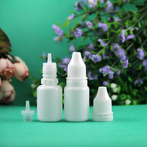 Tamper Proof 10ml 15ml 30ml Ldpe White Color Plastic Dropper Bottle Lot 100pcs