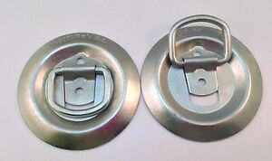 2pc Tie down Anchors Round Bolt on Cargo Tie Down Flush Mount D rings 1 200 Mbs