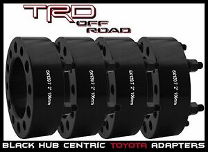 4 Pc Toyota 2 Thick Hub Centric Wheel Spacers 4 Runner Fj Cruiser Tacoma Tundra