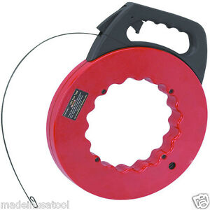 Electrician Spring Steel Fish Tape Electric Wire And Coax Cable Puller Tool 100