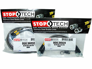 Stoptech Stainless Steel Braided Brake Lines front Rear Set 34032 34531