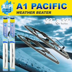 Metal Frame Windshield Wiper Blades J hook Oem Quality 22 22 Inch Chevrolet