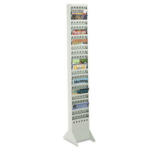 Safco Steel Magazine Rack 23 Compartments 10w X 4d X 65 1 2h Gray