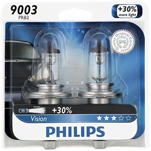 2x Philips 9003 Ultra Vision Upgrade Light Bulb H4 High Low Dual Beam 67 60w