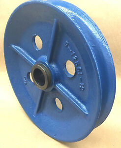 Wire Rope Sheave pulley 5 8 Rope 14 Od 1 7 8 Plain Bore Cast Iron