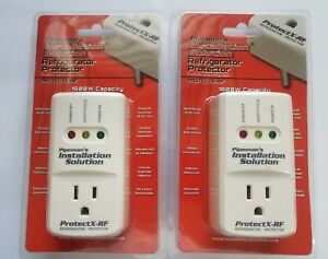 2 Lot Pack Voltage Protector Brownout Surge Refrigerat or 1800 Watts Appliance