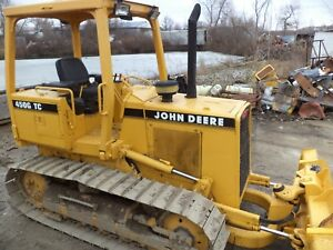 John Deere 450g With 6 Way Blade New Pins And Sprocks Chain Ect Good Runner
