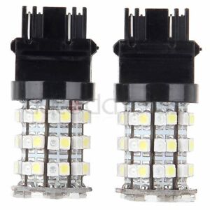 2pcs White Amber 3157 3155 3457 4157 Switchback Led Bulbs For Turn Signal Lights