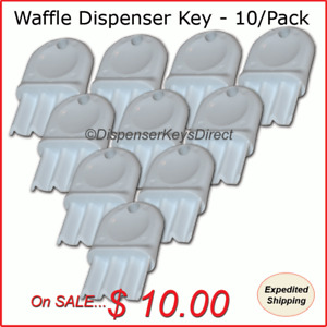 Universal waffle Key For Paper Towel Toilet Tissue Dispensers 10 pk