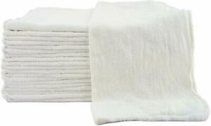 500 New Industrial Shop Rags Cleaning Towels White Large 12x14 Towel Premium