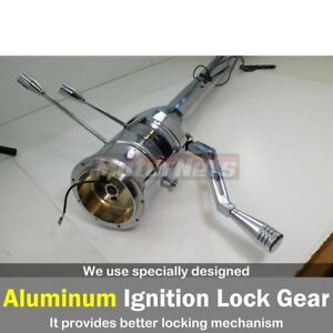 Chrome Stainless 30 Automatic Tilt Steering Column Shift No ignition Key Gm