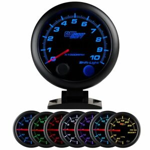 Glowshift Black 7 Color 3 3 4 Tachometer W Shift Light