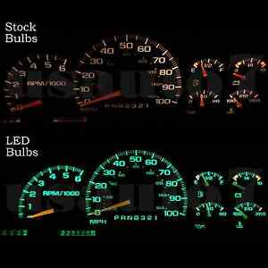 Dash Instrument Cluster Gauge Green Led Light Bulb Kit Fit 95 98 Chevy Silverado