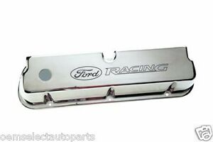 Oem New Ford Racing Sbf Chrome Aluminum Valve Cover 289 302 351 Mustang F150 5 0
