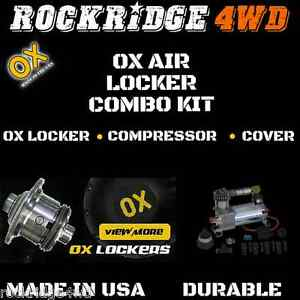 Ox Air Locker With Air Compressor Kit For Dana 30 3 73 Up Ratio 27 Spline Jeep