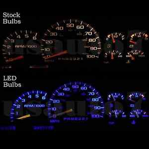 Dash Instrument Cluster Gauge Bulb Blue Led Light Kit Fits 95 98 Chevy Silverado